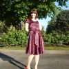 Self-Stitched Satin Dress: Day Twenty-Two