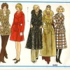 Glam 70′s Wrap Coat: Vogue 2412