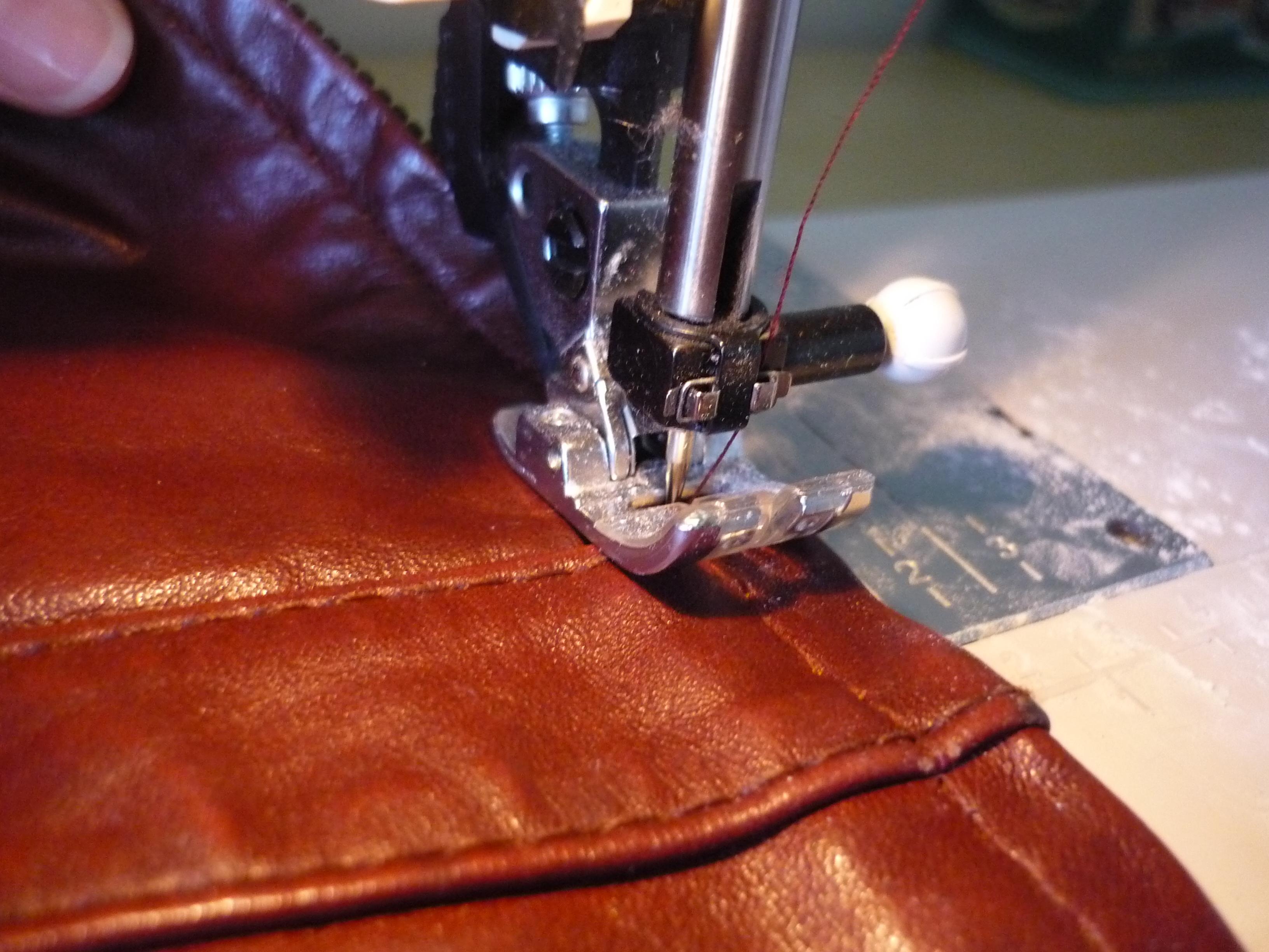 Leather jacket zip repair - Slowly