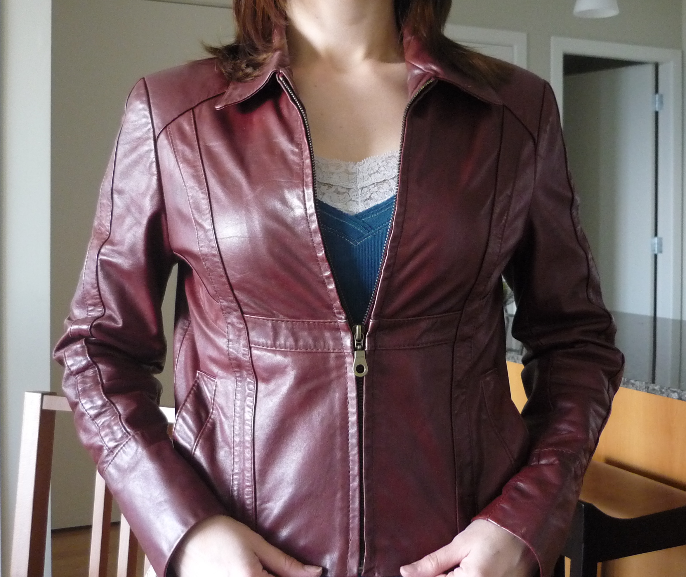 Leather jacket zip repair - Dust Off The Baby Powder From Your Jacket And Zip Up The Jacket You Re Done