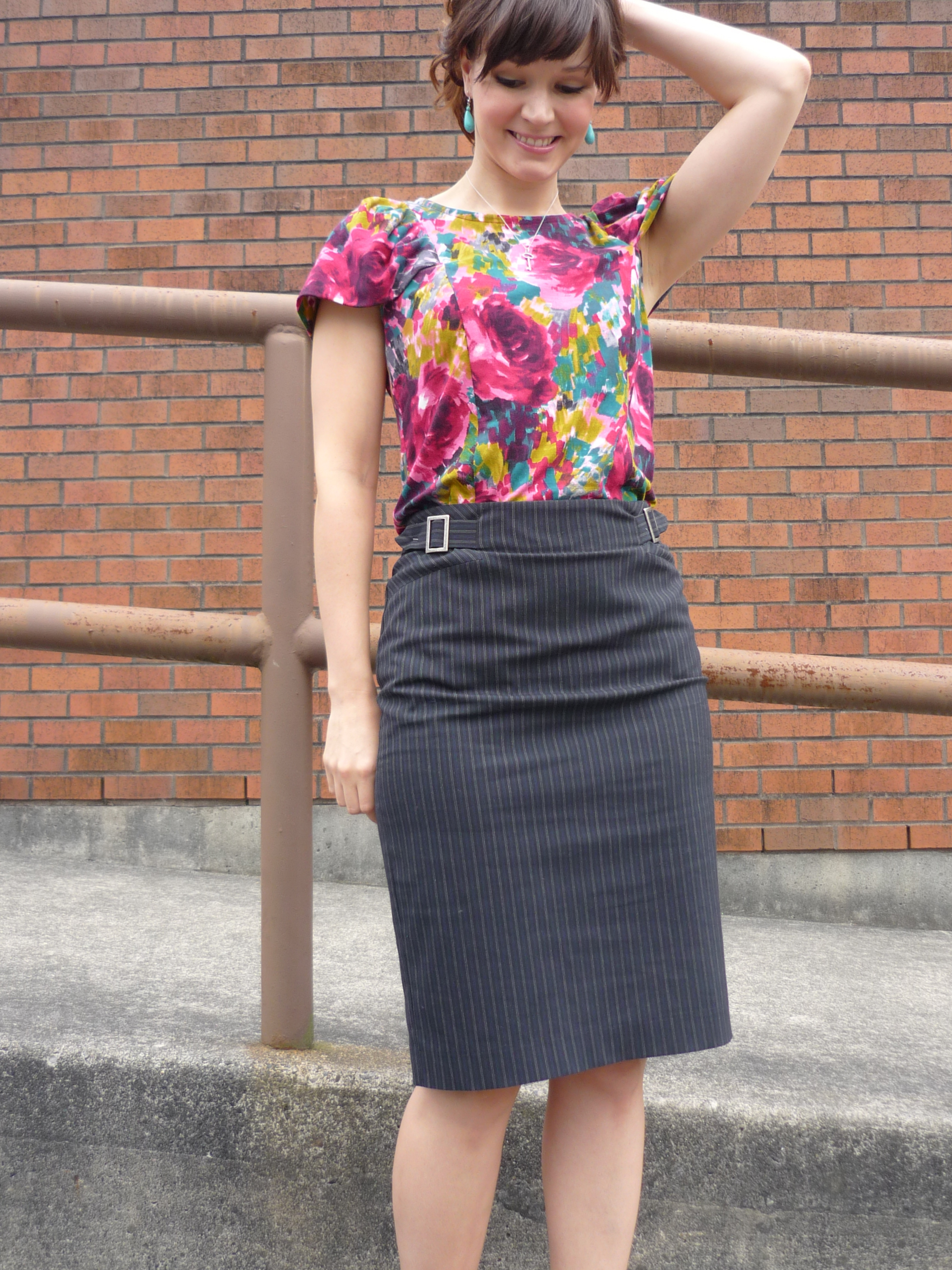Pendrell Blouse in Knit Fabric: Yes, it works!   Sewaholic