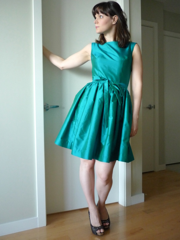 The Party Dress Finished! Plus A Little Q&amp-A.. - Sewaholic