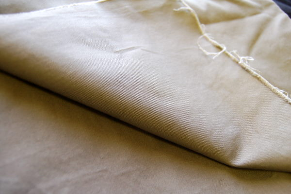 cotton twill - you can see the diagonal lines