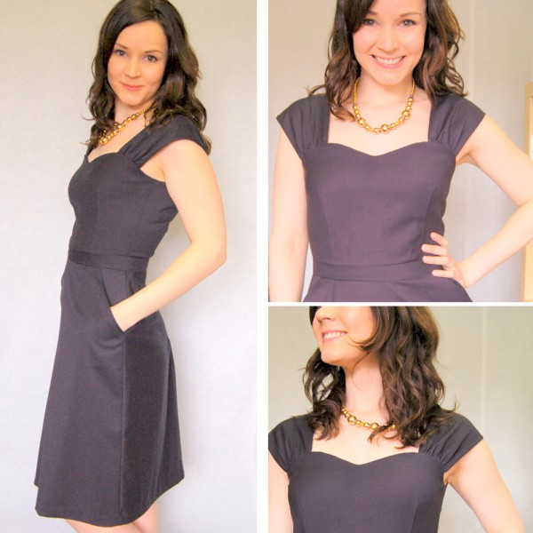 Cambie Dress in Navy, View A