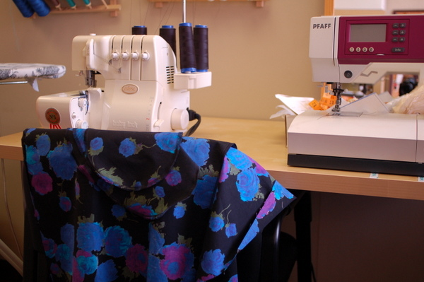 actually started sewing something last friday!