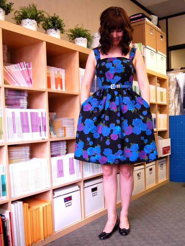 hazel dress from colette patterns - border print