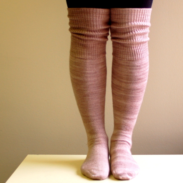 hand knitted knee socks