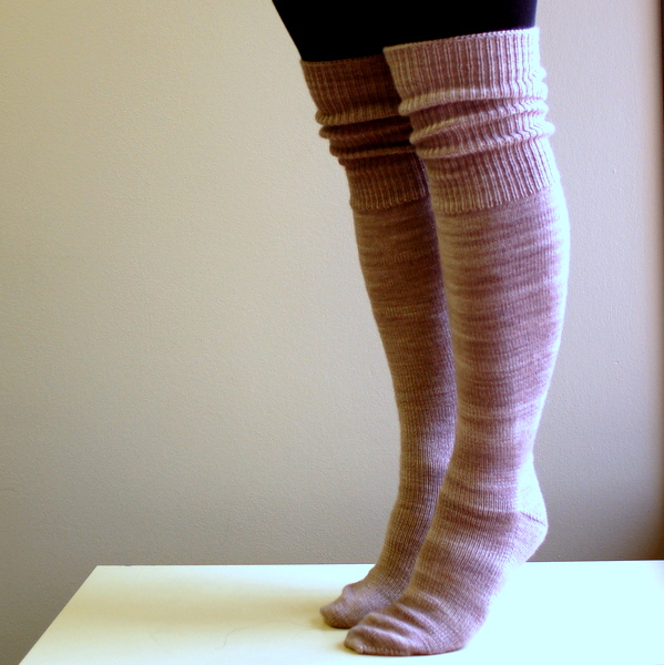 hand knit knee socks