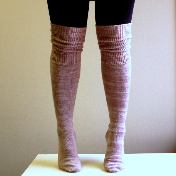 Knitting Pattern For Over The Knee Socks : Over-the-Knee Socks, Finished! Sewaholic
