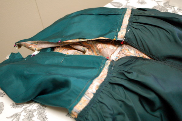 sew lining, sew shell of cambie dress