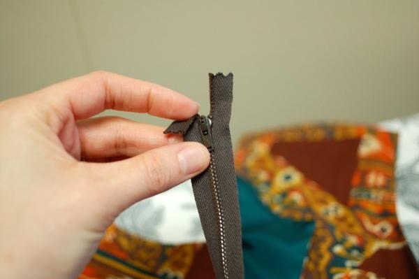 turn under zipper tape