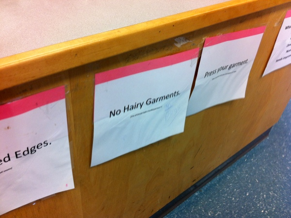no hairy garments!