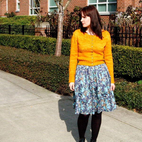 gathered floral skirt