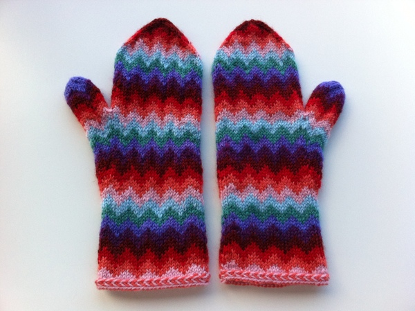 chevron love mittens