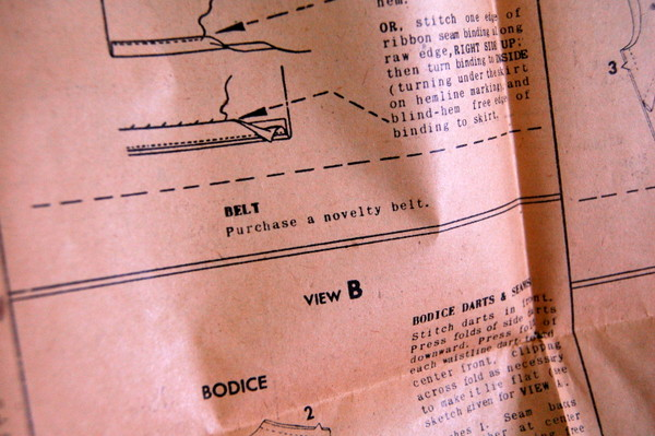 sewing instructions - buy a belt!