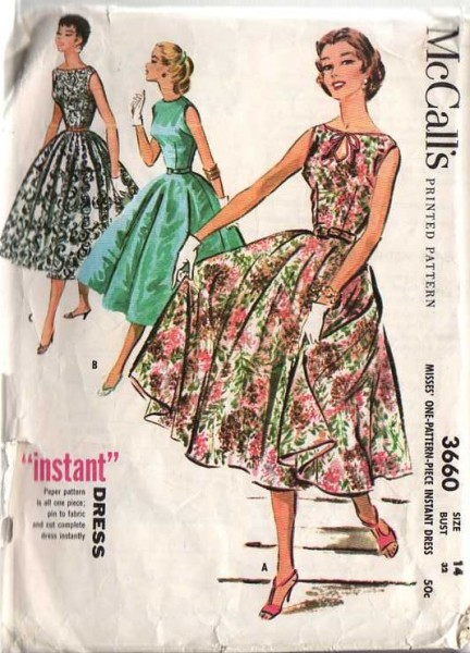 McCalls 3660, the 'Instant' Dres