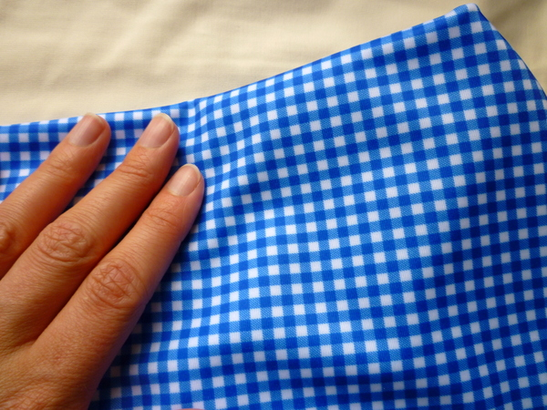 gingham swimsuit fabric for bombshell swimsuit