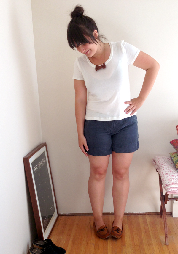 thurlow shorts, weekend look