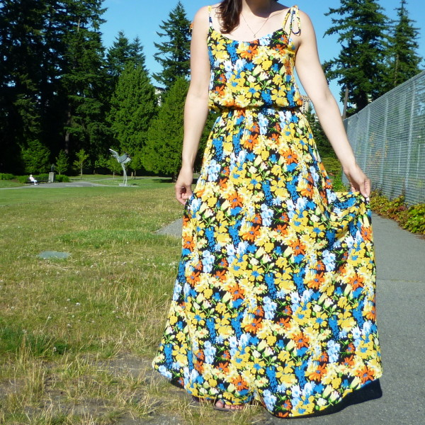 saltspring dress - no seams down the middle of the skirt