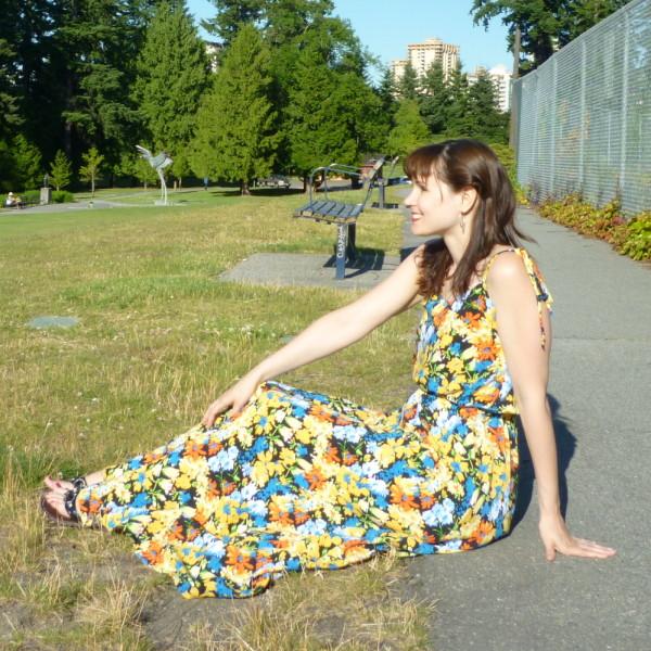 saltspring dress, long version
