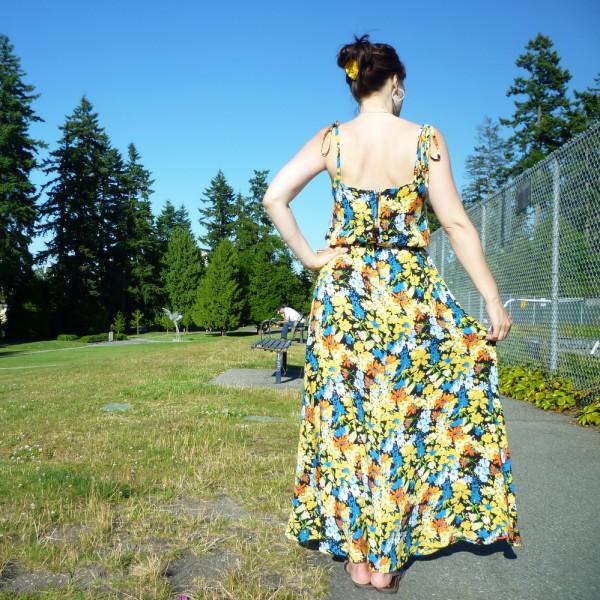 saltspring dress, back view