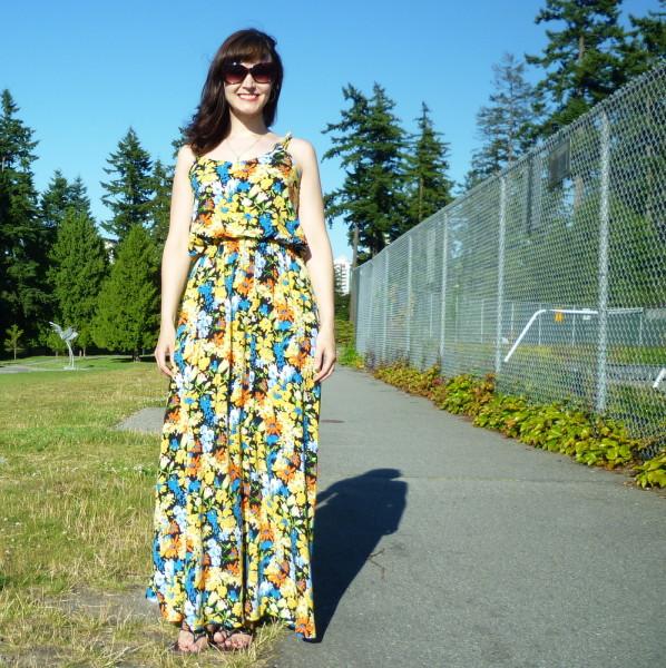 saltspring dress, maxi dress