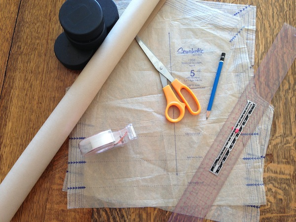 pattern drafting tools for adding pleats to shorts