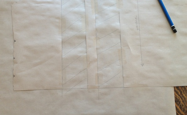 add paper in between pleat slashes