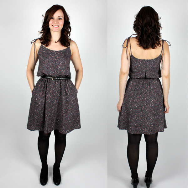 saltspring dress front and back