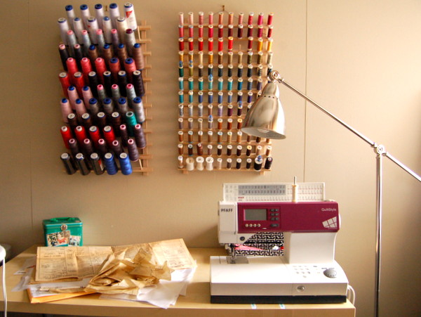sewing room setup