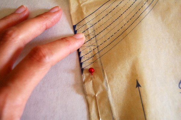 pin seam allowance in place