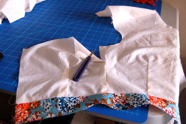 button front cambie dress lining