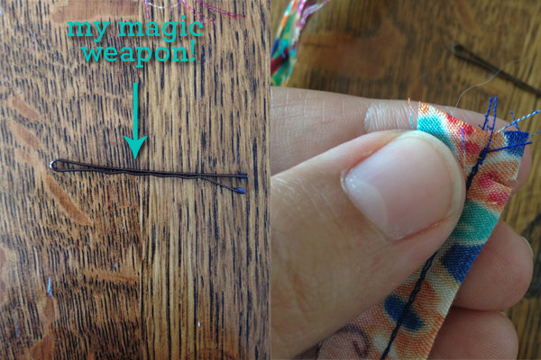 saltspring dress straps - use bobby pin to turn