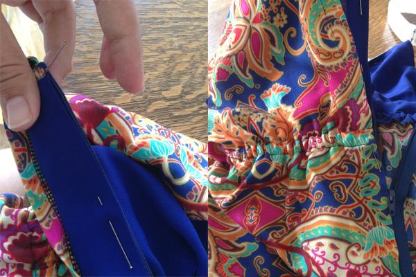 saltspring sew-along - sewing the zipper