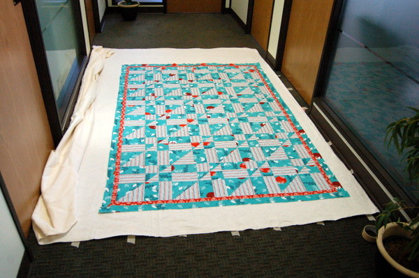 quilt top and batting