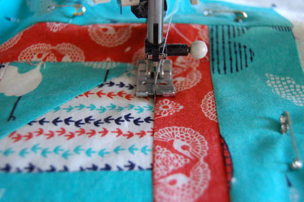 stitch in the ditch quilting