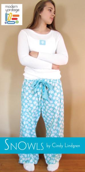 snowls pyjama pants - snowy owls!