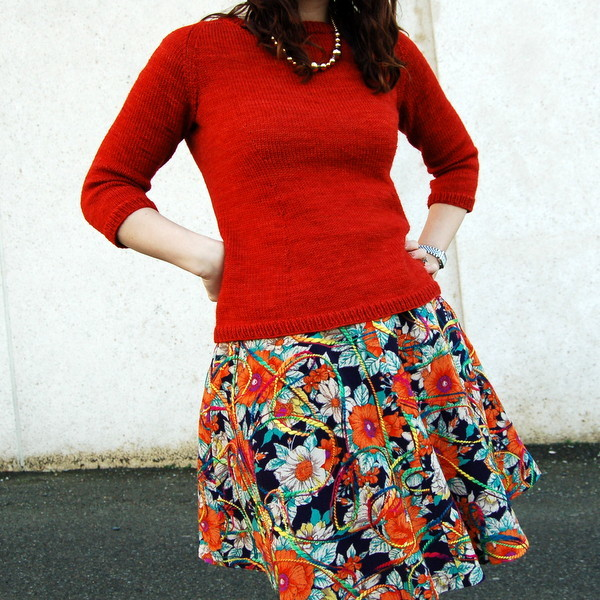 hollyburn skirt and orange sweater