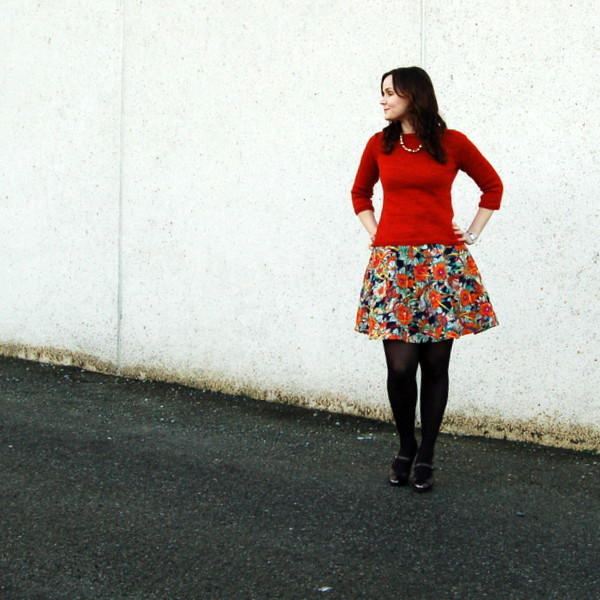 hollyburn skirt and blank canvas sweater