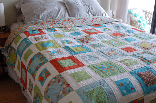 bed quilt finished!