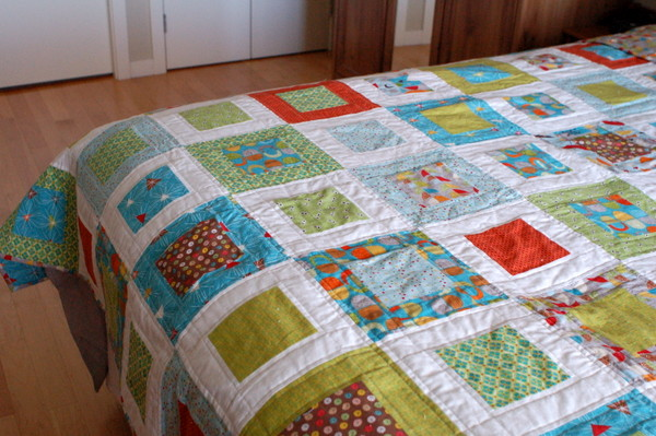 bed quilt, at home on bed