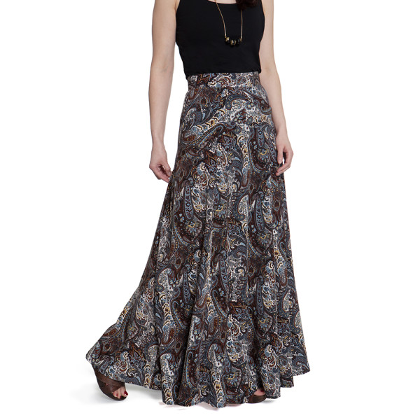 gabriola maxi skirt in paisley