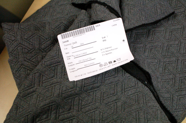 quilted grey fabric