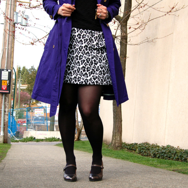 anemone skirt by deer and doe animal print with robson trench coat