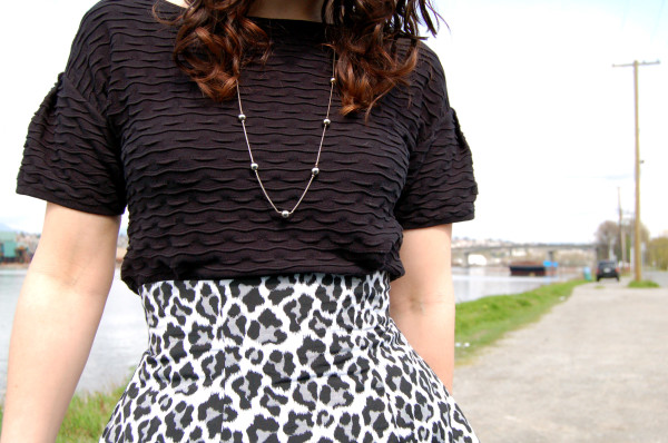 anemone skirt by deer and doe animal print with top tucked in