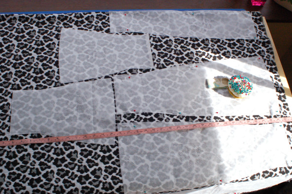 anemone skirt layout to save fabric
