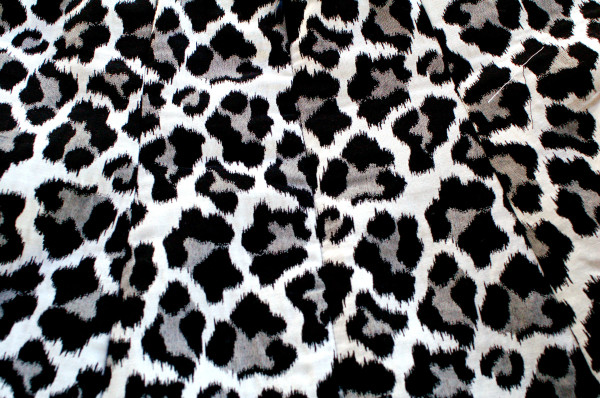 leopard print matches across the invisible zipper