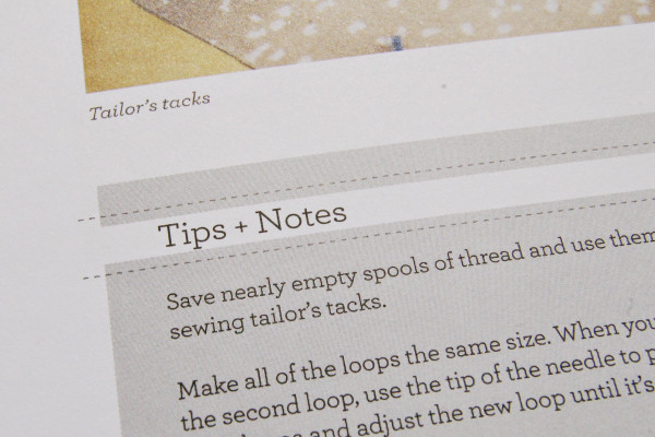 the sewtionary has arrived! sewing tips and notes