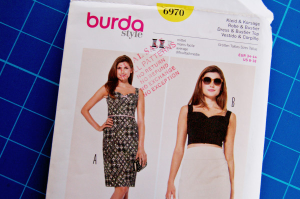 burda 6970 envelope front
