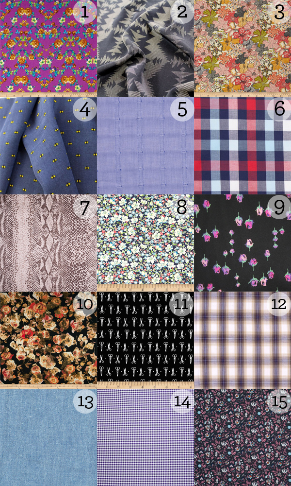 Fabric Suggestions Granville and Oakridge